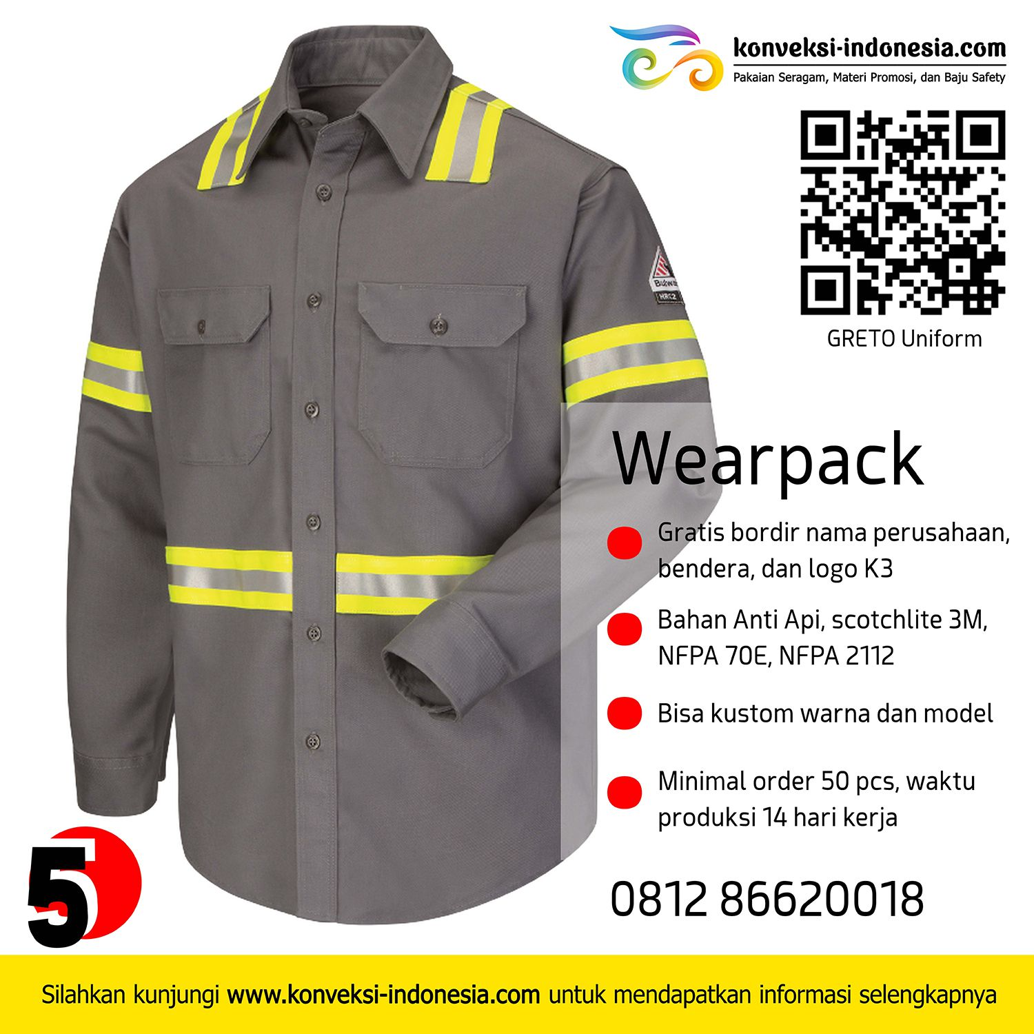 konveksi wearpack, vendor wearpack, konveksi coverall